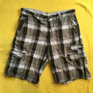 Route 66 Men's Plaid Gray Shorts **5 for $20**